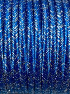 Piattina Soutache Metallico 3mm Misura:1mt Colore :Azzurro Petrolio Filo Argento Art: S90