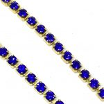 Catena strass 2,5mm Castone oro Pietre in cristallo Quantità 50cm Colore Peridot Articolo 551