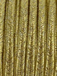 Piattina Soutache Metallico 3mm Misura:1mt Colore : Giallo Tenue Filo Oro Art: S115
