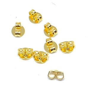 Farfalline in ottone nichel free 50 pezzi Misura5x5x3mm Colore oro Articolo 5