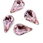 Goccia cristallo  4 pezzi Misura 13x7,8mm Colore Lt Rose Articolo 275