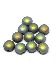 Cabochon Doppio Foro  Misura: 6mm  Colore :Crystal Full Vitrail Matted  Art: P106