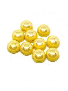 Cabochon Doppio Foro  Misura: 6mm  Colore :Lemon Full Light AB  Art: P111