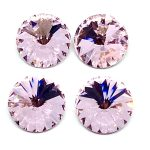 Rivoli cristallo 14mm 4 pezzi Colore Lt Rose Art 367