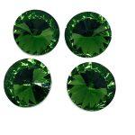 Rivoli cristallo 14mm 4 pezzi Colore Olivine Art 369